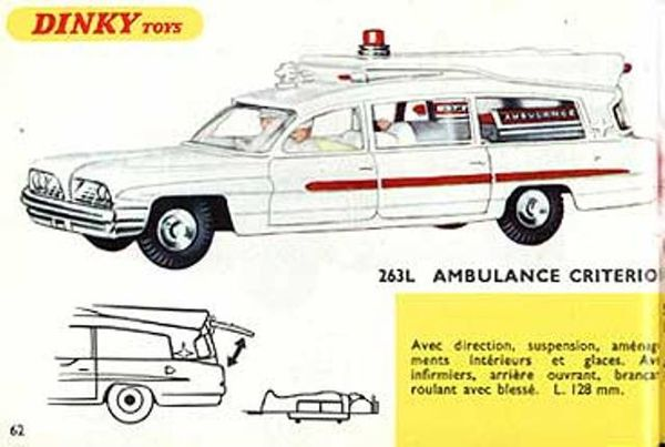 catalogue dinky toys 1967 p62 ambulance criterion