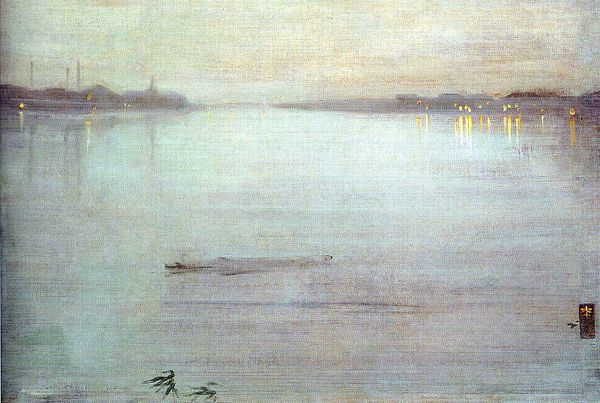 James Whistler harmonie en bleue et or
