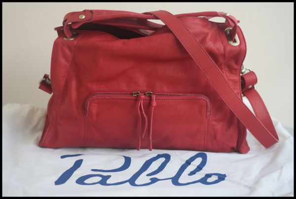 Sac cuir rouge Delia Pablo by Darel