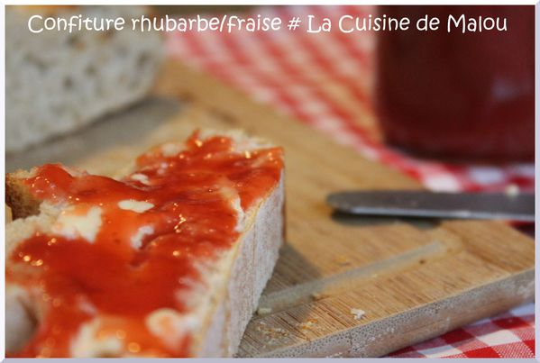 confiture rhubarbe fraise la confiture de saison thermomix la cuisine de malou. Black Bedroom Furniture Sets. Home Design Ideas