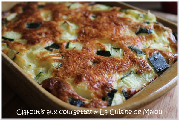 clafoutis aux courgettes un repas l ger sans complexe la cuisine de malou. Black Bedroom Furniture Sets. Home Design Ideas