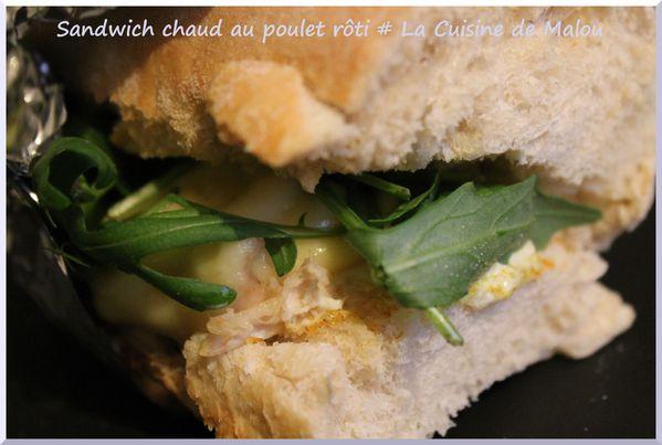 sandwich-chaud-poulet-rôti-recette