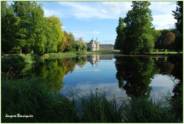Chantilly chateau parc reflets