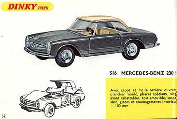 catalogue dinky toys 1967 p32 mercedes 230