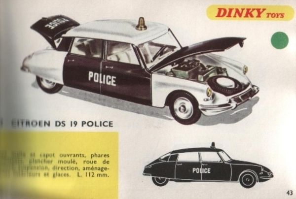 catalogue dinky toys 1968 p043 ds police dinky