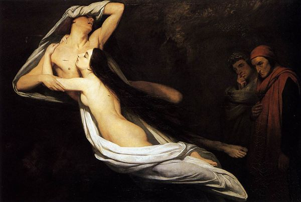 1835 Ary Scheffer - The Ghosts of Paolo and Francesca Appea