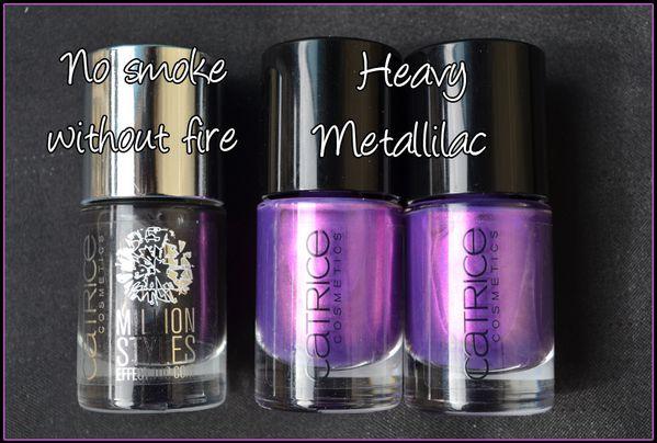Catrice Heavy metallilac et Million styles