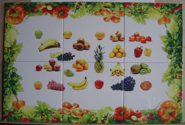 fresques fruits legumes impression sur carrelage selon c ramikdo. Black Bedroom Furniture Sets. Home Design Ideas