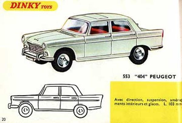 catalogue dinky toys 1967 p20 peugeot 404