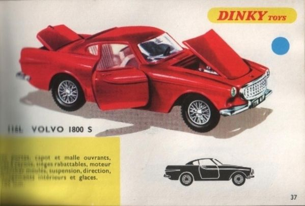 catalogue dinky toys 1968 p037 volvo 1800s