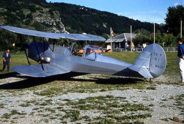 Photo n°3 rare photo du Stampe SV4P (moteur potez) WEB