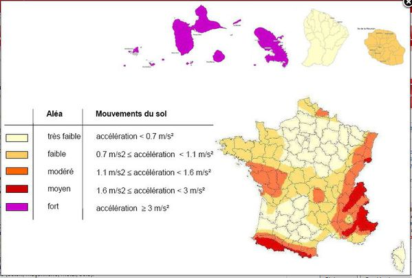 carte des zones fragiles