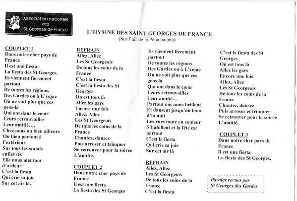 Hymne St Georges de France