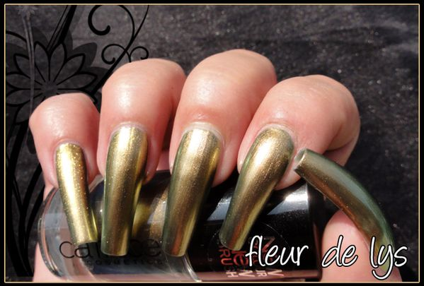 Vernis ongles or (duochrome)