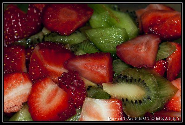 fraises et kiwi