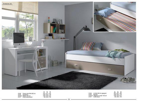une chambre lits gigognes laque