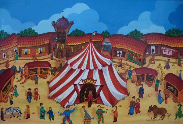 Bernard Vercruyce-Le cirque est là