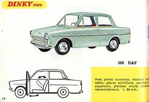catalogue dinky toys 1967 p14 daf