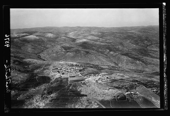 Anathoth. Home of Jeremiah looking W. with Neby Samwil on distant horizon 1931