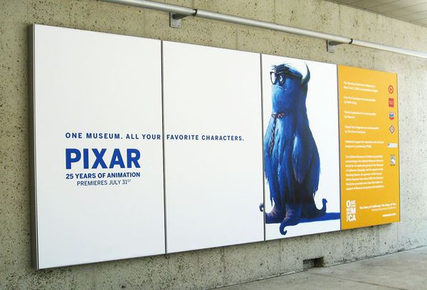 exposition Pixar 25 Years on Animation à Paris 16 novembr