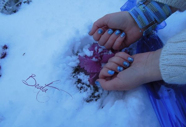 flocon de neige nail art