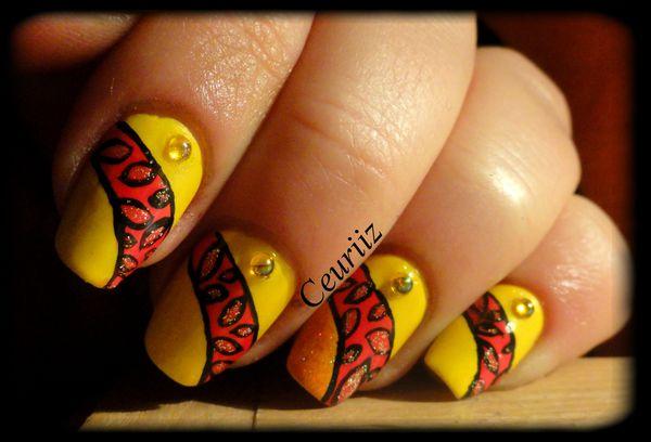 Sunshine Pop nail art2