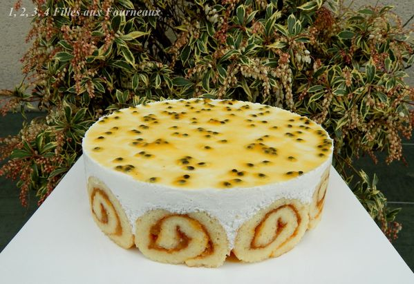 entremet exotique coco mangue