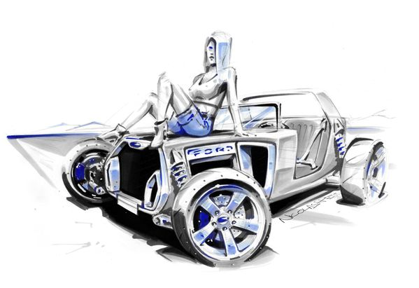 hot rod Ford t concept pin up