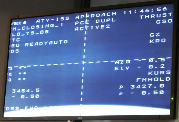 Docking ATV-4 - Approche ISS - 3450m
