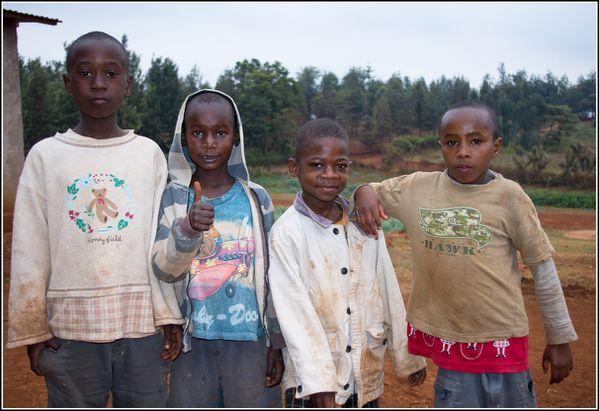 enfants de l'orphelinat de Karatu