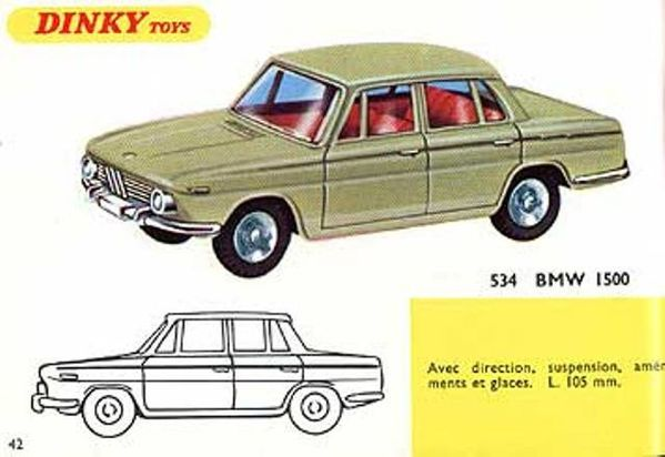 catalogue dinky toys 1967 p42 bmw 1500