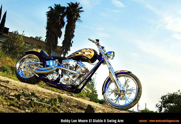 West Coast Choppers - Bobby Lee Moore El Diablo II Swing Arm