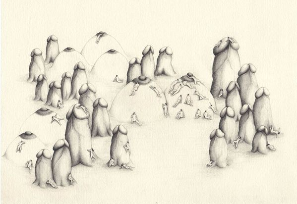 Genital_Village_2008_Pencil_on_paper.jpg