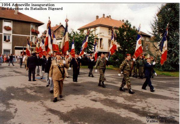 1994-Amneville inauguration Av. Bataillon Bigeard (9)