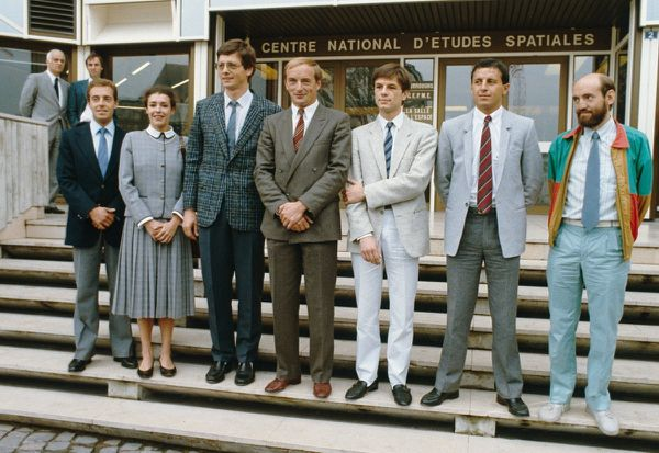 CNES - Paris - Groupe de spationautes - 09-09-1985