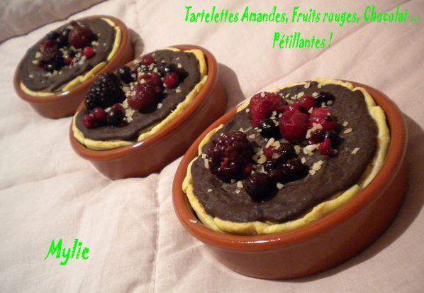 tartelettes amandes, fruits rouges, chocolat ... p-copie-1