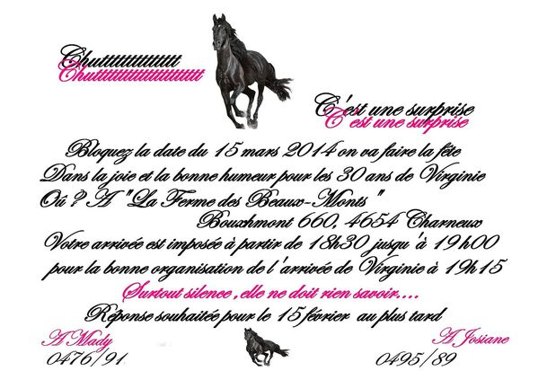 anniversaire surprise cheval
