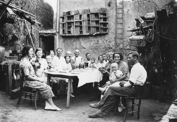 Repas famille, Pierre et Irène Gortchakoff