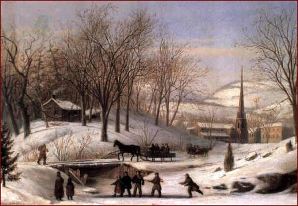 carlin-john snow-scene-at-utica.1813-1891