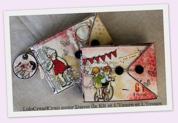 1-Mini album Petite fille Dame de Kit L'encre et L'image