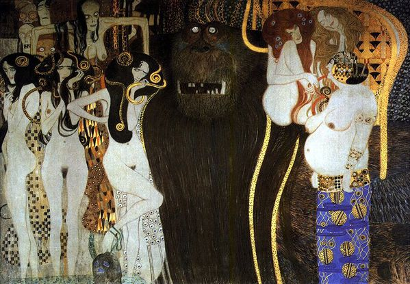Klimt les forces Hostile Powers 1902