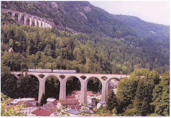 Viaducs sur la Ligne des hirondelles, à Morez (Jura)
