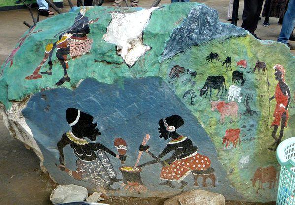 rocher peint