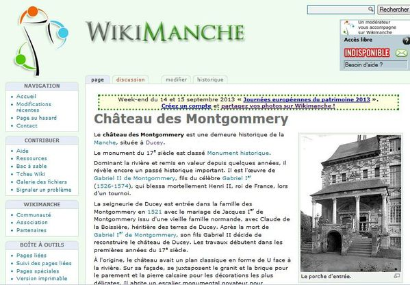 Capture wikimanche chateau ducey