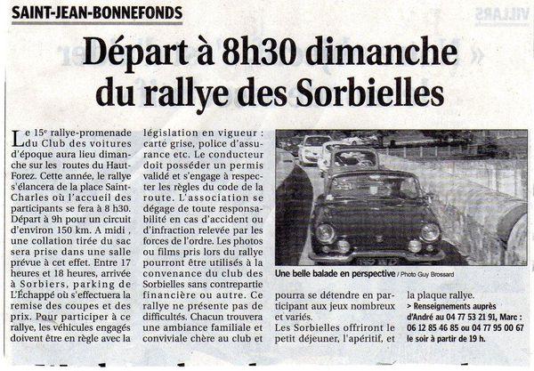 Article Rallye 2011