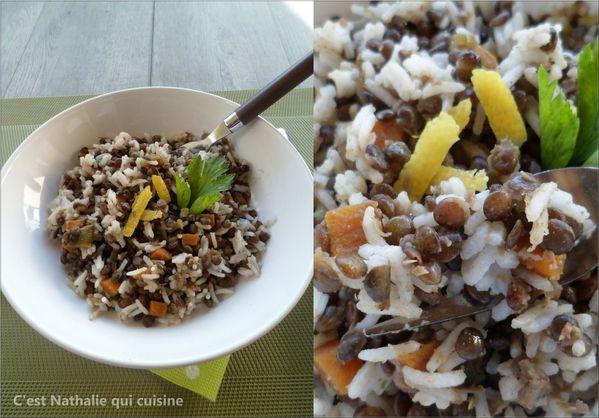 salade de riz basmati et lentilles le blog de c 39 est nathalie qui cuisine. Black Bedroom Furniture Sets. Home Design Ideas