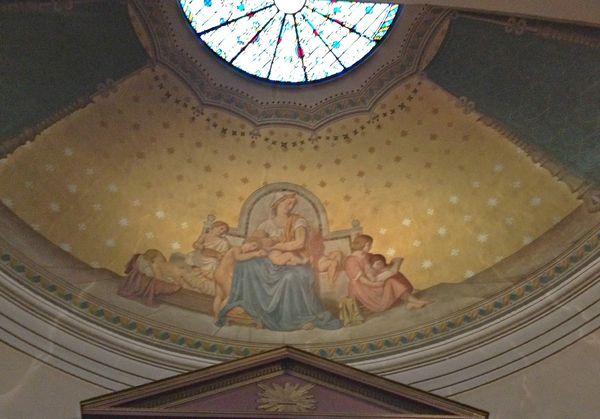 Chapelle Saint Vincent de Paul Église Saint-Germain La charité Fresque d'Eugène Pineu