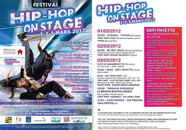 Festival Hip Hop On Stage - Maison des Cultures de Molenbeek