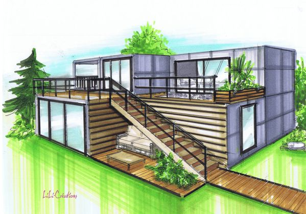 Maison le blog de elise fossoux for Comment construire sa maison container
