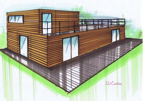Le blog de elise fossoux d coration architecture d for Dessin de maison en bois